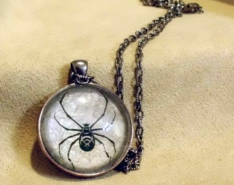 TSUCHIGUMO - Unique OOAK art necklace - Spider Seductress, Spider Woman, Spinner of Illusions - signed and dated - handmade wearable art