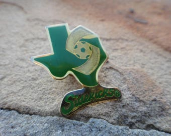 Vintage Pin Vintage Green Texas Soccer Sidekick Pin Brooch Button Green Texas TX