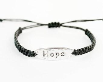 Hope Bracelet, Word Bracelet, Inspiration Bracelet, Gift for Her, Word Charm, Friendship Bracelet, Best Friend Gift, Gift for Her, Jewelry