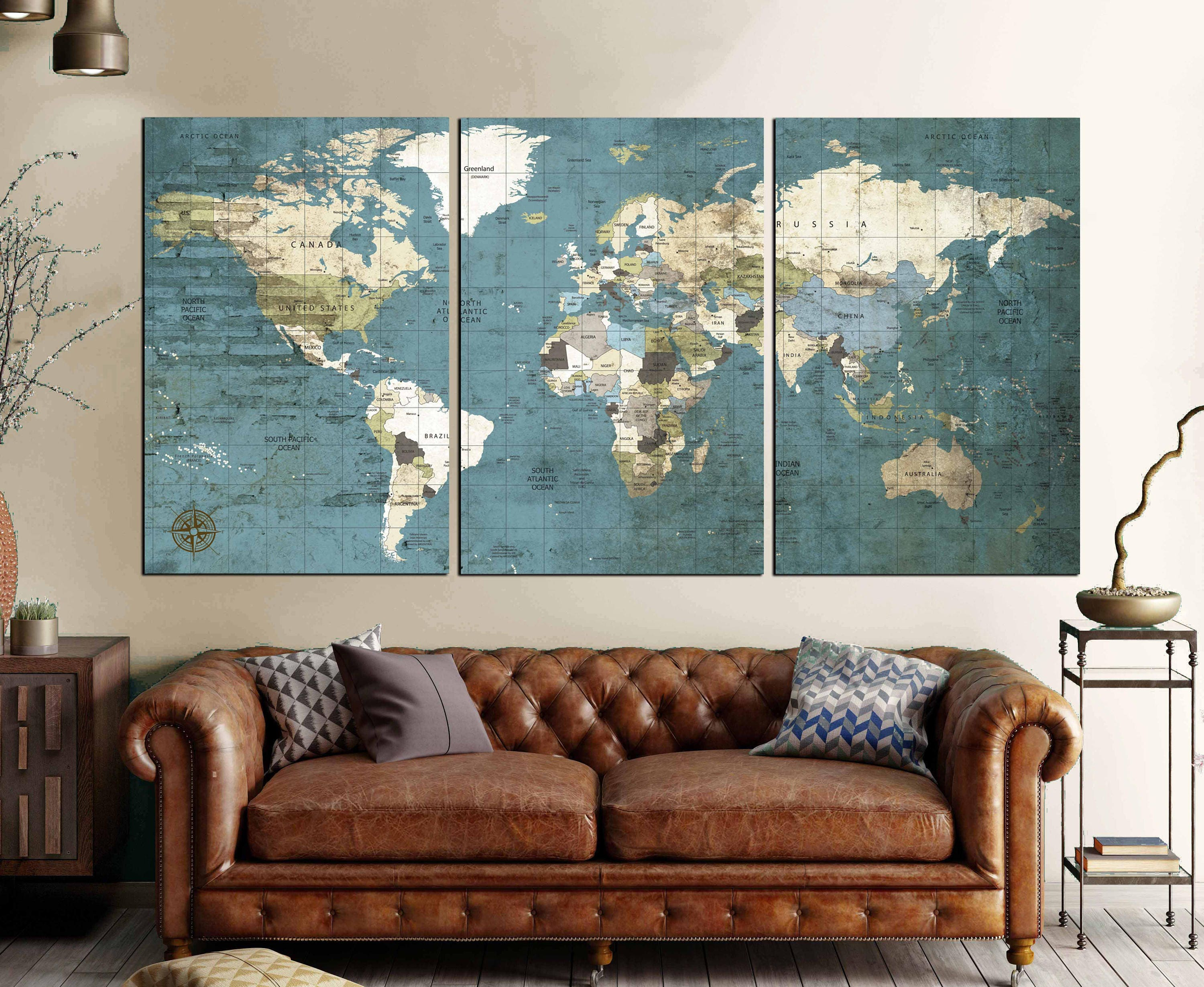 Large world map vintage canvas printworld map wall artworld map large world map vintage canvas printworld map wall artworld map push pin world travel mapworld map vintageworld map canvaspolitical map gumiabroncs Images