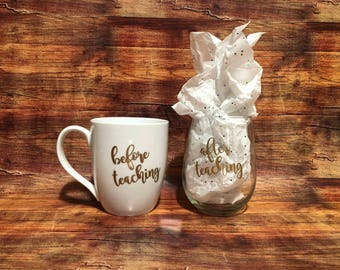 Before/After Teaching Mug Set