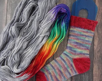 RTS After the Storm Choose Your Base Yarn Gray Rainbow Grey