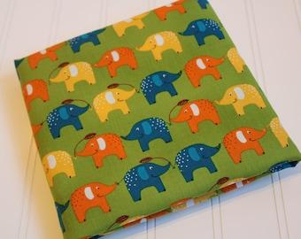 Elephant Playday fabric by Robert Kaufman SEI