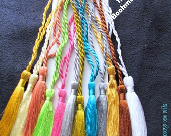 CRAFTS Cardmaking Bookmark TASSELS Assorted colours or choice of colours
