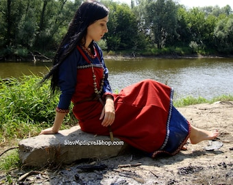 Viking Apron  made of wool, Early Medieval ,Pinafore for Viking Reenactors, Viking Costume