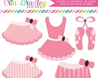 80% OFF SALE Pink Ballerina Tutus Clipart Commercial Use Clip Art Graphics Instant Download