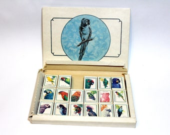 Collective Soviet matches, rare matches of the USSR, vintage matches, collection  parrots, set of matches with parrots, Soviet matchbox
