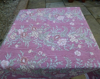 Furnishing Fabric, Upholstery Fabric, Pink Floral Cotton
