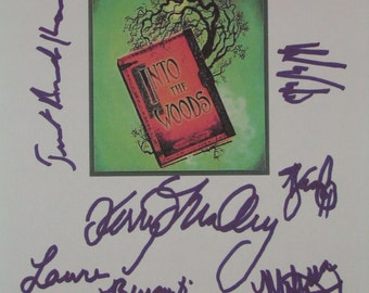 Into The Woods Broadway Musical Signed Script Screen play X8 Laura Bernati Greg Edelman Kerry O'Malley Melissa Dye Christopher Sieber