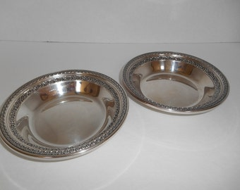 Vintage Fine Silver Serving Bowls Set of 2 by Reed and Barton Pattern #1203