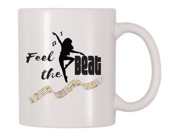 Dance Like Nobody's Watching Mug, Music, Groovy, Dancer Themed Gift For Music Lovers