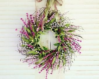 Front Door Wreath for Summer, Spring Wreaths, Summer Wreaths, Lavender Wreaths, Farmhouse Wreaths, Front Door Wreaths, Everyday Wreaths  W29