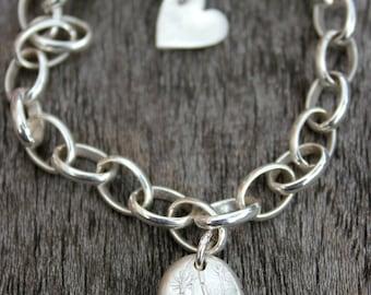Blue zircon bracelet, silver blue bracelet, something blue bracelet, blue gemstone bracelet, December birthstone bracelet, birthday bracelet