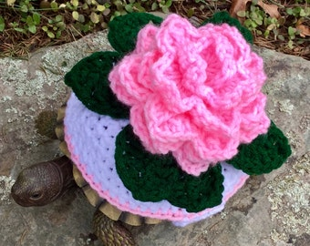Pink Rose Turtle Topper Tortoise Cozy