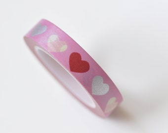 Red Love Heart Masking Washi Tape 10mm x 10M No.13308