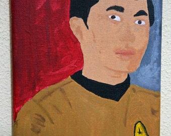 Sulu Star Trek Painting 5x7