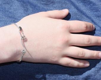 Silver Cuff Bracelet / Silver Bracelet / Swirl Bracelet / Women's Jewelry