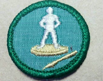 Vintage Girl Scout Merit Badge/Patch ART in THE ROUND