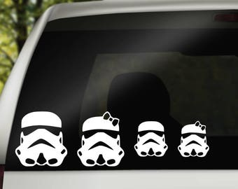 Star Wars Inspired Storm Trooper Family Decal