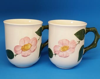 Villeroy and Boch Wild Rose Mugs, Two Mugs