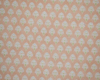 Peach Floral Fabric, Pastel Floral Fabric, Pastel PeachFabric, Spring Fabric, Quilting Fabric, Burnt Orange Floral Fabric, Floral Fabric