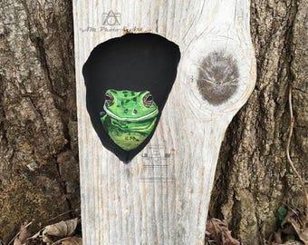 Tree Frog Barnwood Art