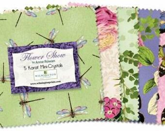 Flower Show 5 Inch Squares Charm Pack, 24 Pieces, Anne Rowan, Wilmington Prints, Precut Fabric, Quilt Fabric, Cotton Fabric