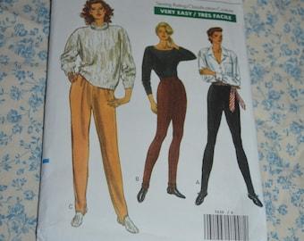 Vogue 7630 Misses Pants Sewing Pattern - UNCUT - Size 6 8 10