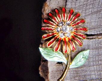 Sunflower Brooch #5471