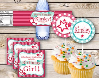 Doll Birthday Party Printables Stars Stripes Birthday Party Printable Girly Doll Party Girl Doll Birthday