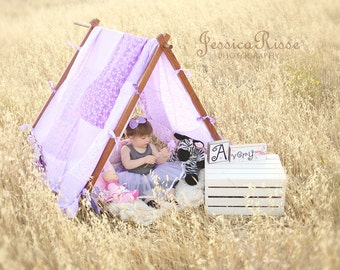 Kids Photo Prop Photography Props Patchwork Tent Cover  Play Tent Cover Lavender/Purple