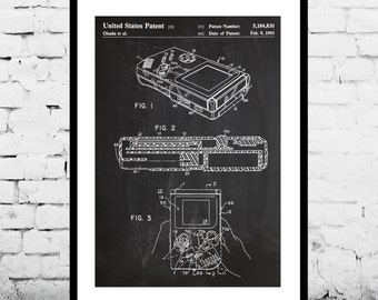 Game Boy Nintendo Poster, Game Boy Nintendo Patent, Game Boy Nintendo Print, Game Boy Nintendo Art, Game Boy Nintendo Decor, Gameboy p135