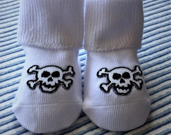 Skull and Crossbones Baby Bootee
