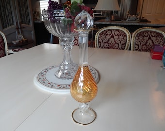 ITALY GLASS DECANTER or Vase
