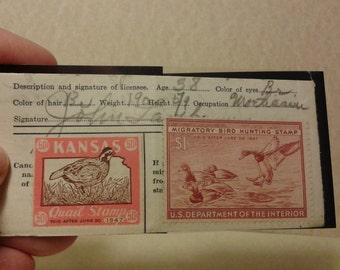 1947 used Kansas Bird Hunting Stamp