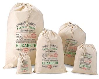 Personalised Santa Sack & Gift Bags - Elizabeth Design