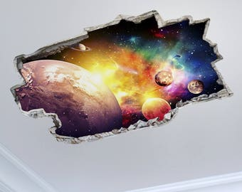 "3DM0029 ""Solar Ceiling System"" 3D effect wall sticker printed on wallpaper"