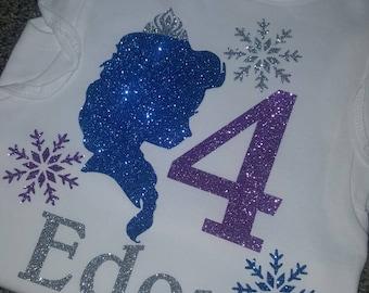 Disney frozen birthday shirt