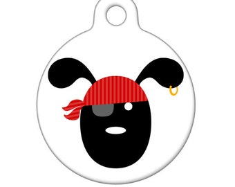 Pet ID Tag - Pirate Pup Pet Tag, Dog Tag, Luggage Tag, Child ID Tag