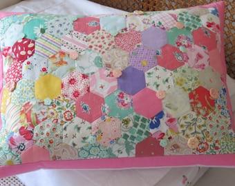 Patchwork Cushion, Hexagon