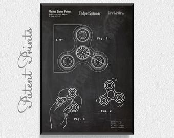 Fidget Spinner Patent Print, Game Room Wall Art, Fidget Spinner Patent, Fidget Spinner Design, Fidget Spinner Decorations