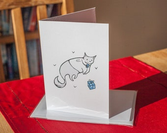 Business Cat Chills – Greetings Card For All Occasions