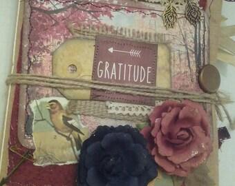 Fall junk journal. Autumn junk journal. Gratitude journal. Fabric junk journal.