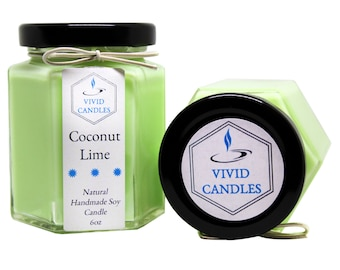 Coconut Lime Natural Handmade Soy Candle