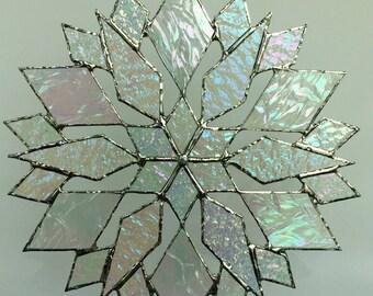 stained glass snowflake suncatcher (design 18B)