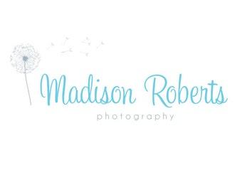 Premade Logo Design & Photography Watermark - Logo Template - Dandelion Logo - Watermark Design - Premade Photography Logo - Flower Logo 569