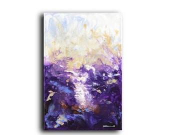 XL Original Painting | Deep Gallery Canvas | Purple Art | Acrylic | Abstract | Contemporary | Modern Art | Conceptual | Street Artist