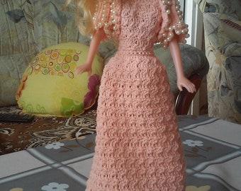 Knitted elegant lady doll