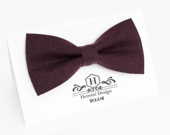 Purple Bow Tie For Wedding / -  Bow Tie For Groomsmen / Boy's / Toddler's / Men