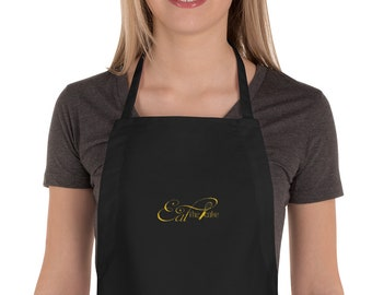 Eat the Cake promotional Embroidered Apron